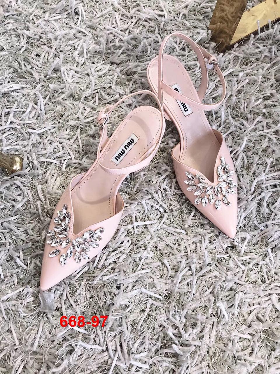 668-97 Miu Miu sandal cao 6cm siêu cấp
