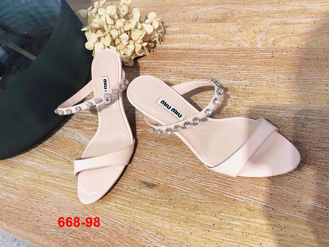 668-98 Miu Miu sandal cao 6cm siêu cấp