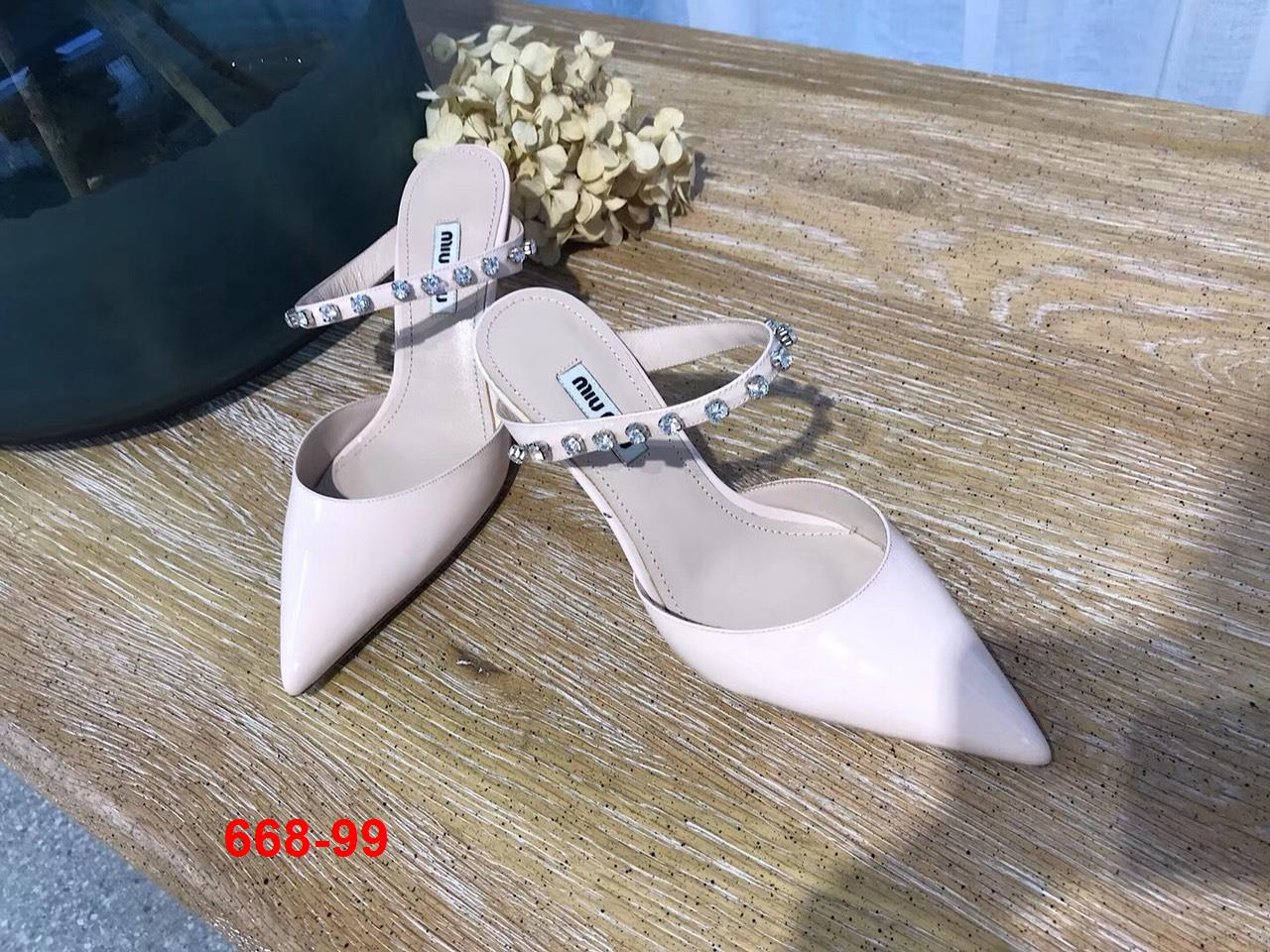 668-99 Miu Miu sandal cao 6cm siêu cấp