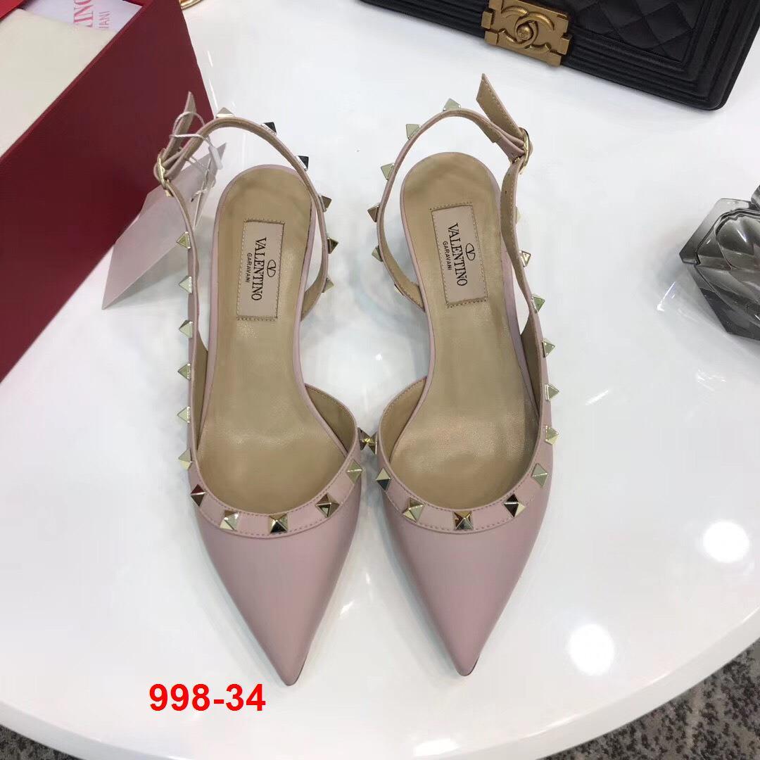 998-34 Valentino sandal cao 5cm, 9cm siêu cấp