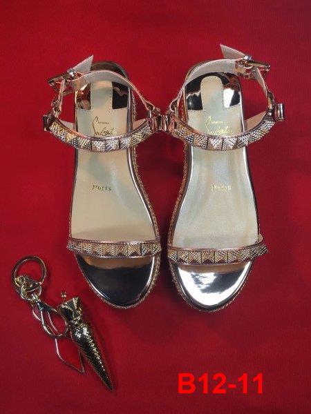 B12-11 Louboutin sandal cao 6cm, 12cm đế xuồng kếp siêu cấp