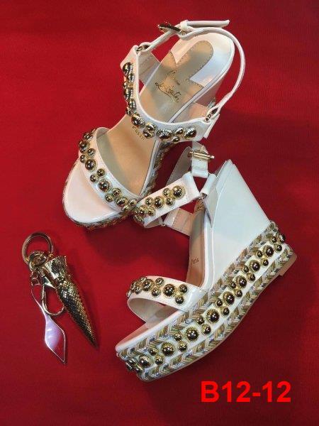 B12-12 Louboutin sandal cao 6cm, 12cm đế xuồng kếp siêu cấp