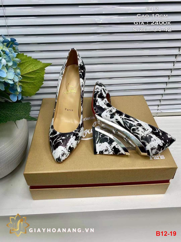 B12-19 Louboutin giày cao 10cm siêu cấp