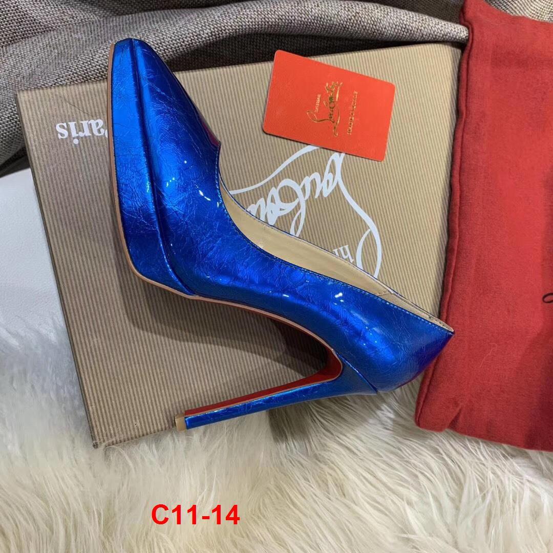 C11-14 Louboutin giày cao 10cm đế kếp siêu cấp