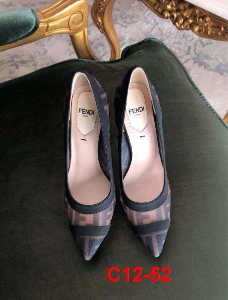 C12-52 Fendi giày bệt, cao 5cm, 9cm siêu cấp