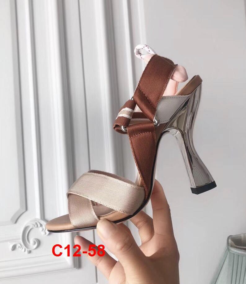 C12-58 Fendi sandal cao 6cm, 10cm siêu cấp