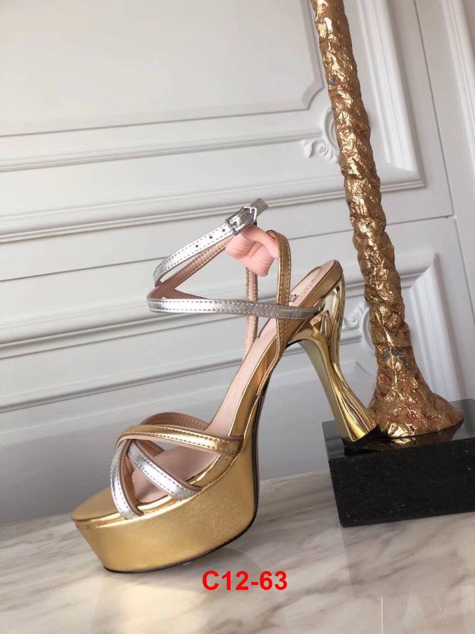 C12-63 Fendi sandal cao 10cm đế kếp siêu cấp