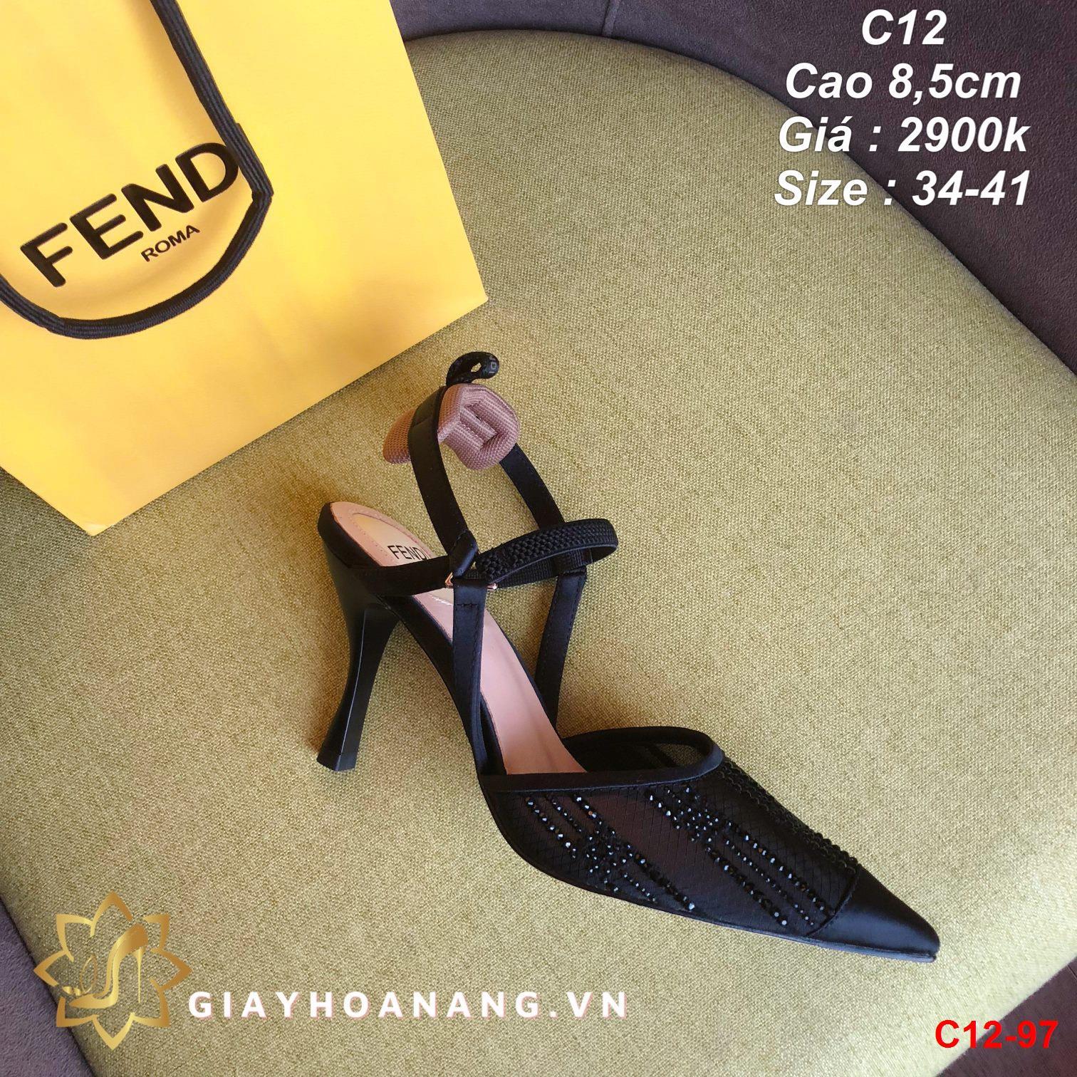 C12-97 Fendi sandal cao 8,5cm siêu cấp