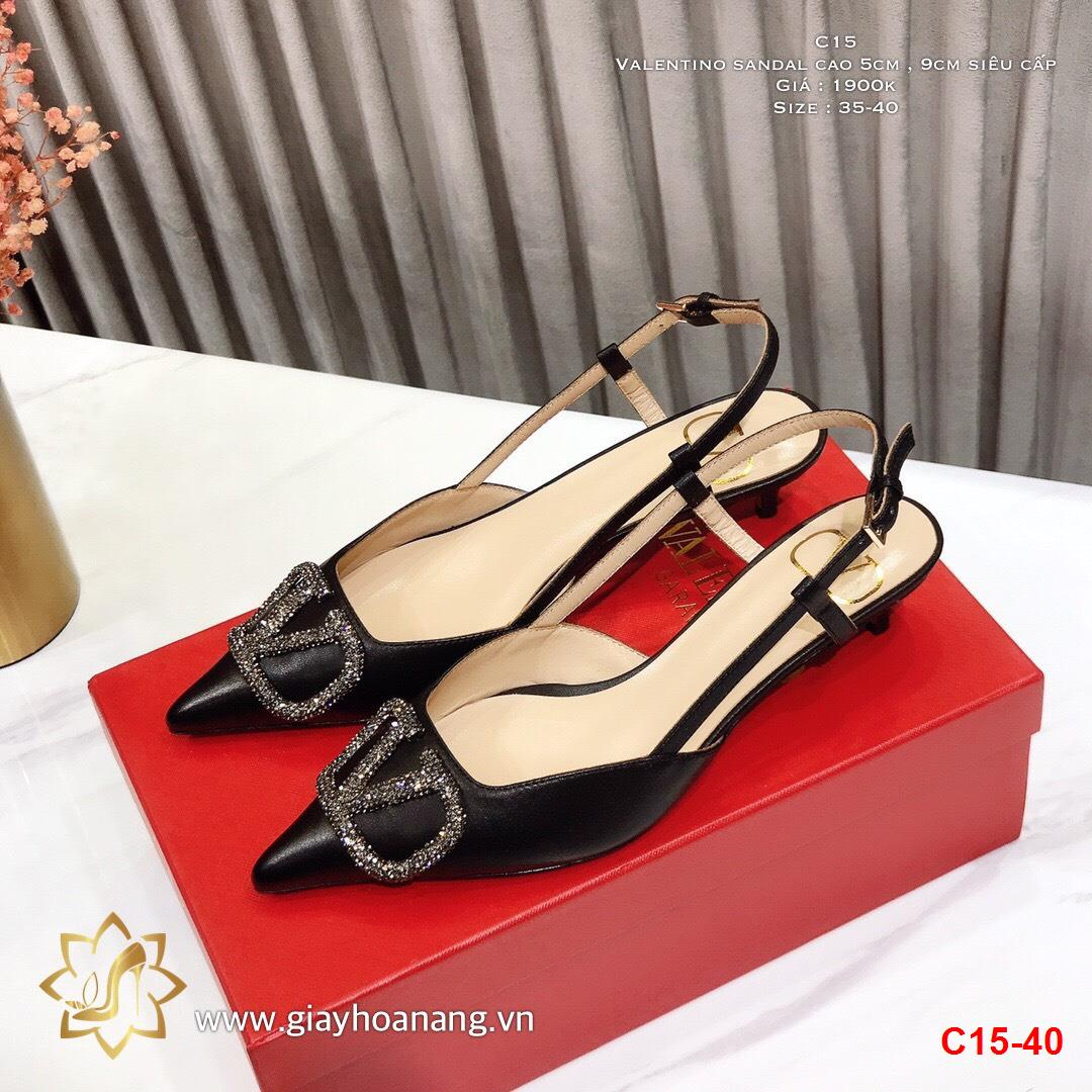 C15-40 Valentino sandal cao 5cm , 9cm siêu cấp