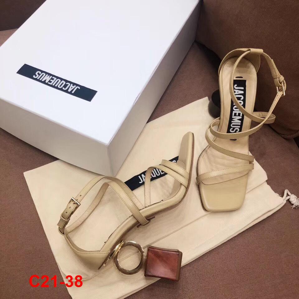 C21-38 Jacquemus sandal cao 9cm siêu cấp