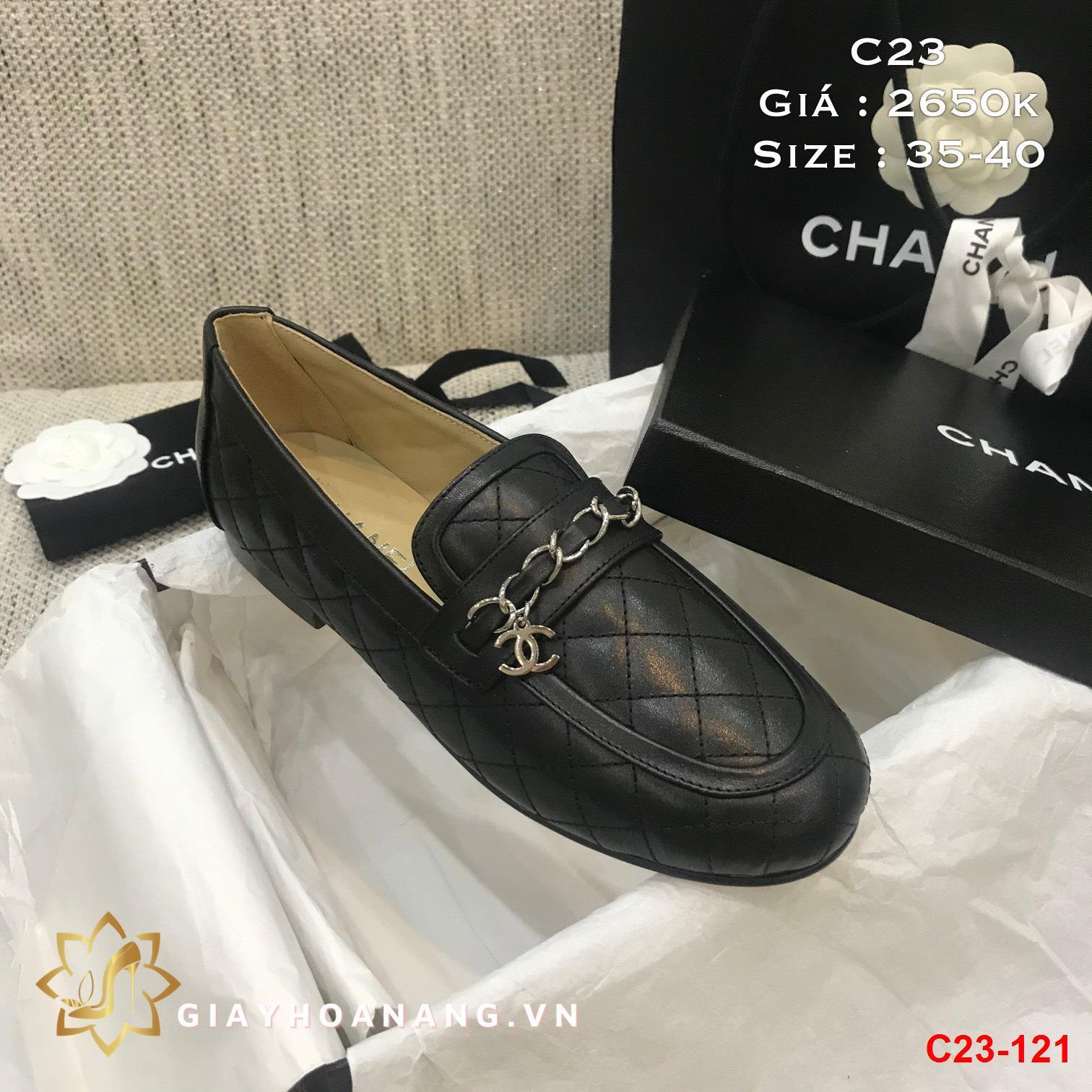 C23-121 Chanel giày lười siêu cấp