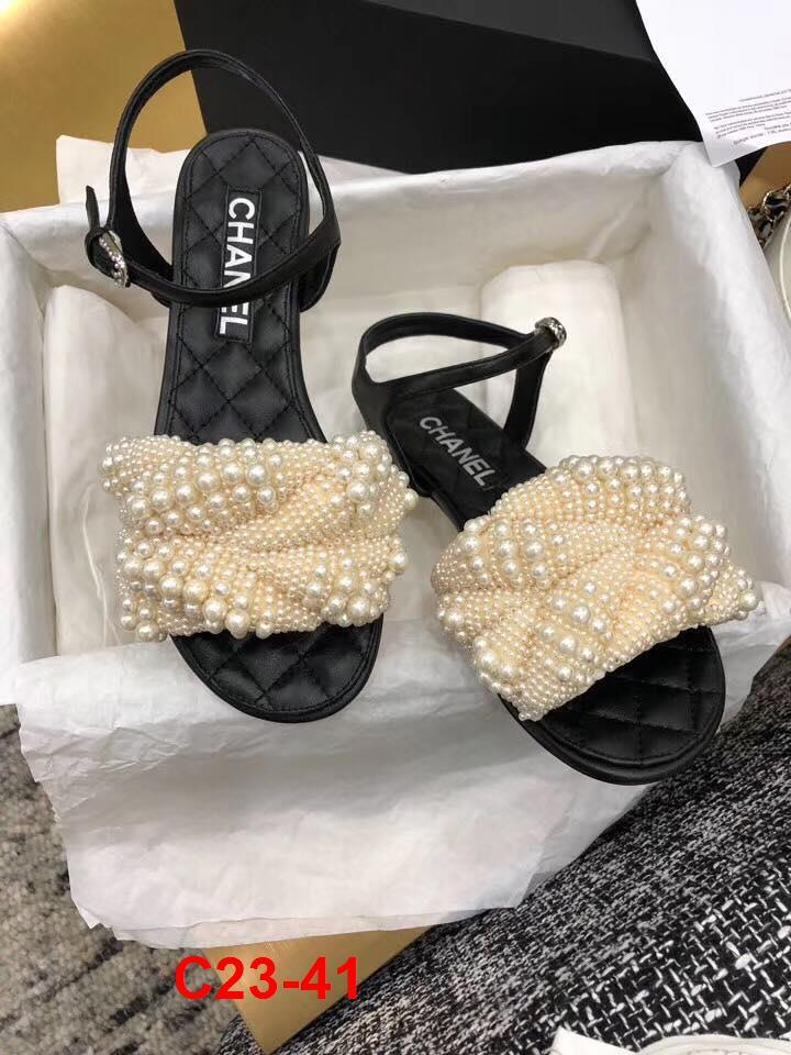 C23-41 Chanel sandal bệt siêu cấp