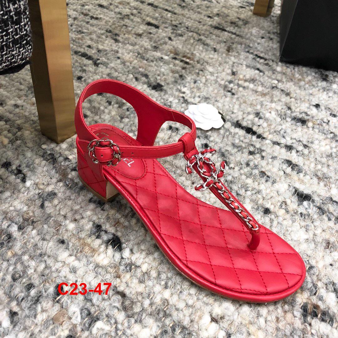 C23-47 Chanel sandal cao 4cm siêu cấp