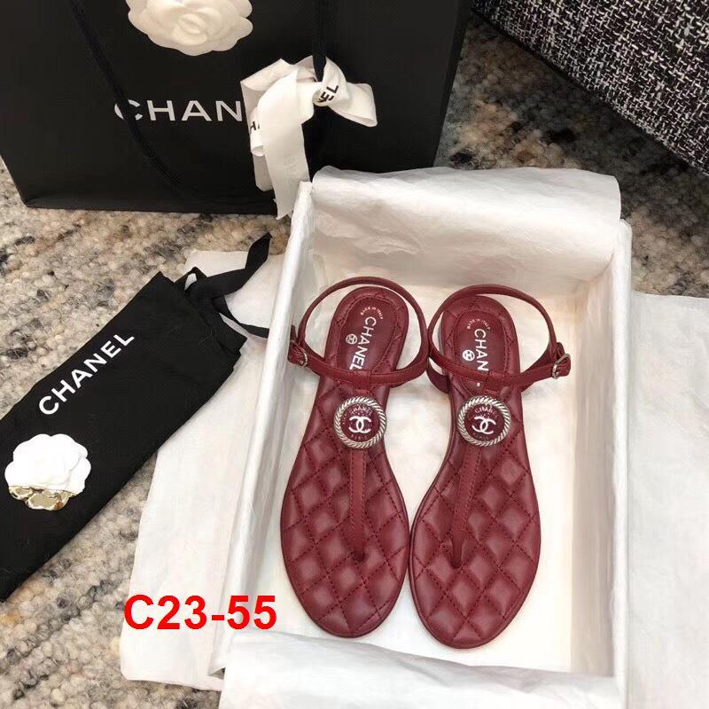 C23-55 Chanel sandal bệt siêu cấp