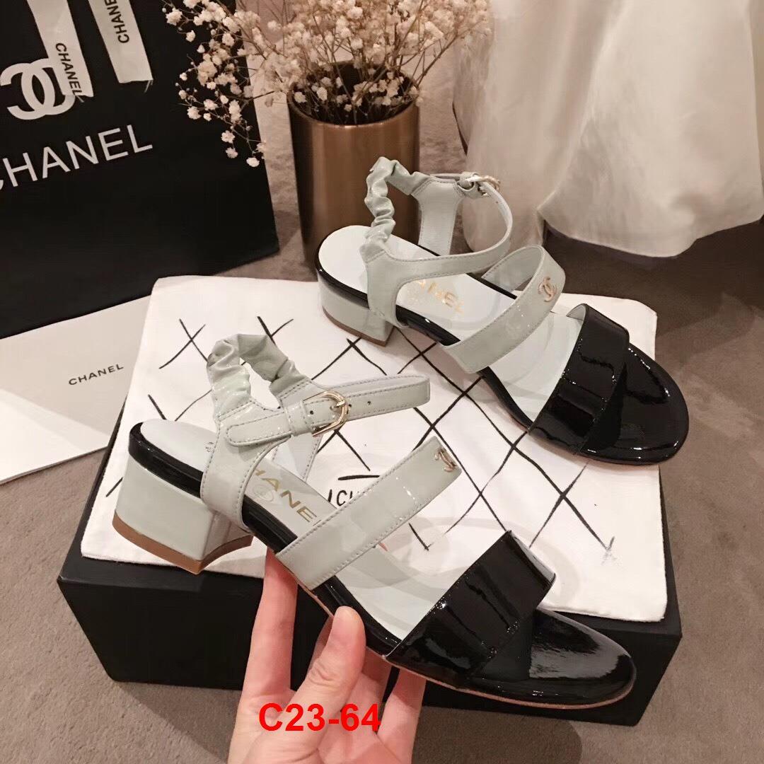 C23-64 Chanel sandal cao 4cm siêu cấp