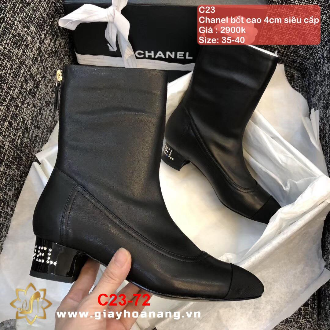 C23-72 Chanel bốt cao 4cm siêu cấp