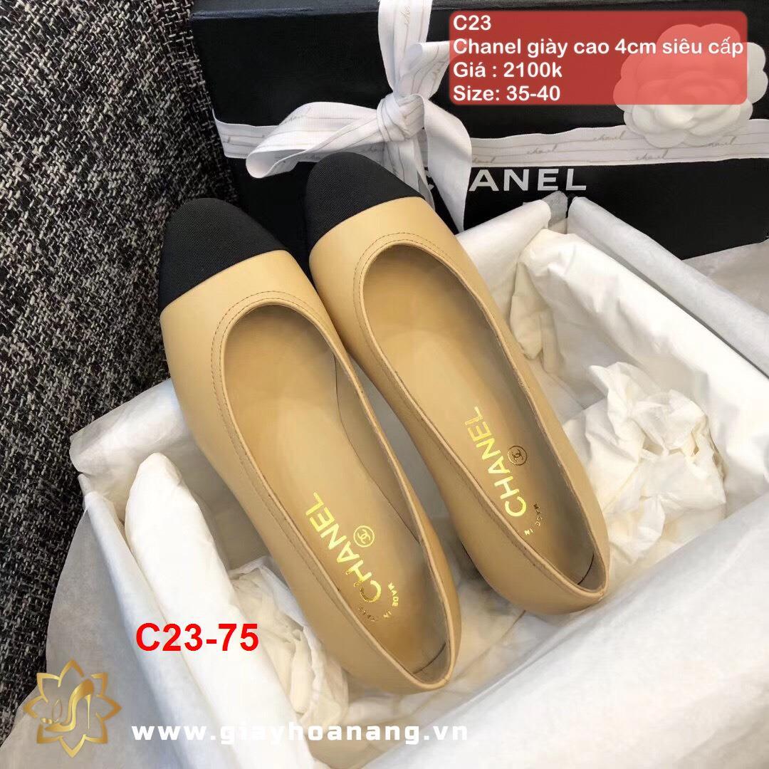 C23-75 Chanel giày cao 4cm siêu cấp