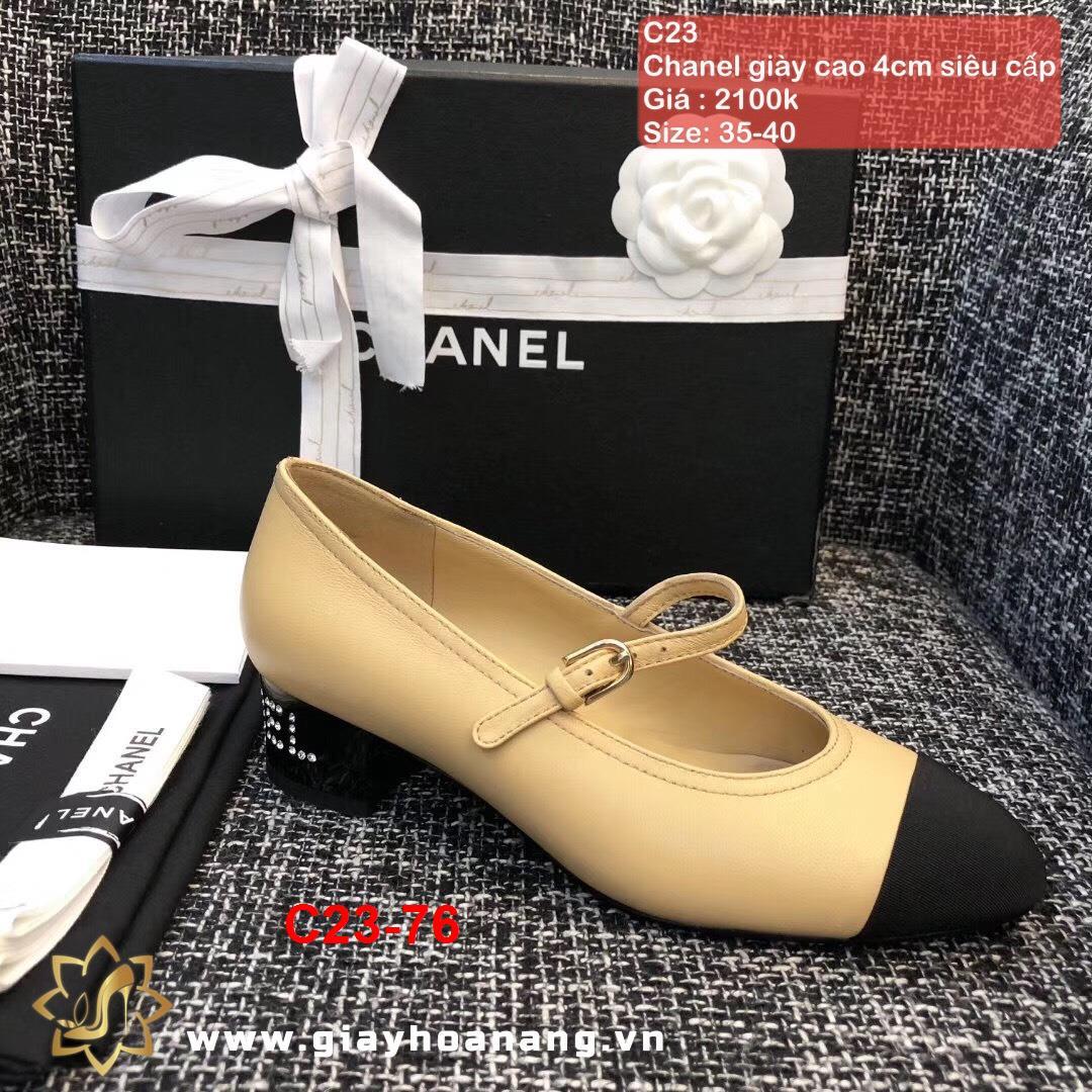 C23-76 Chanel giày cao 4cm siêu cấp