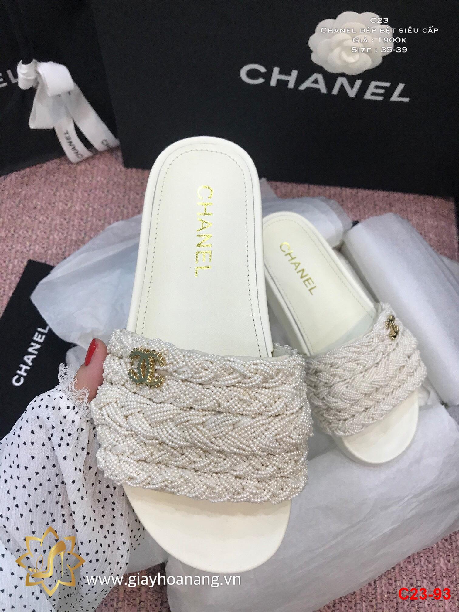 C23-93 Chanel dép bệt siêu cấp