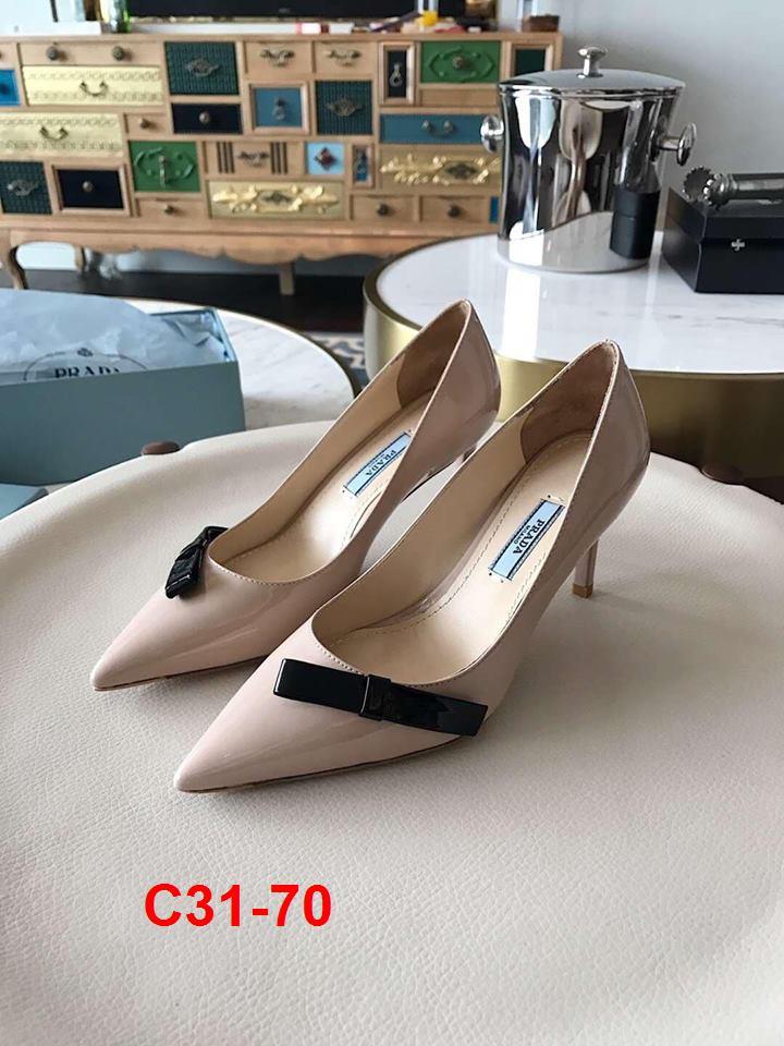 C31-70 Prada giày cao 7cm siêu cấp