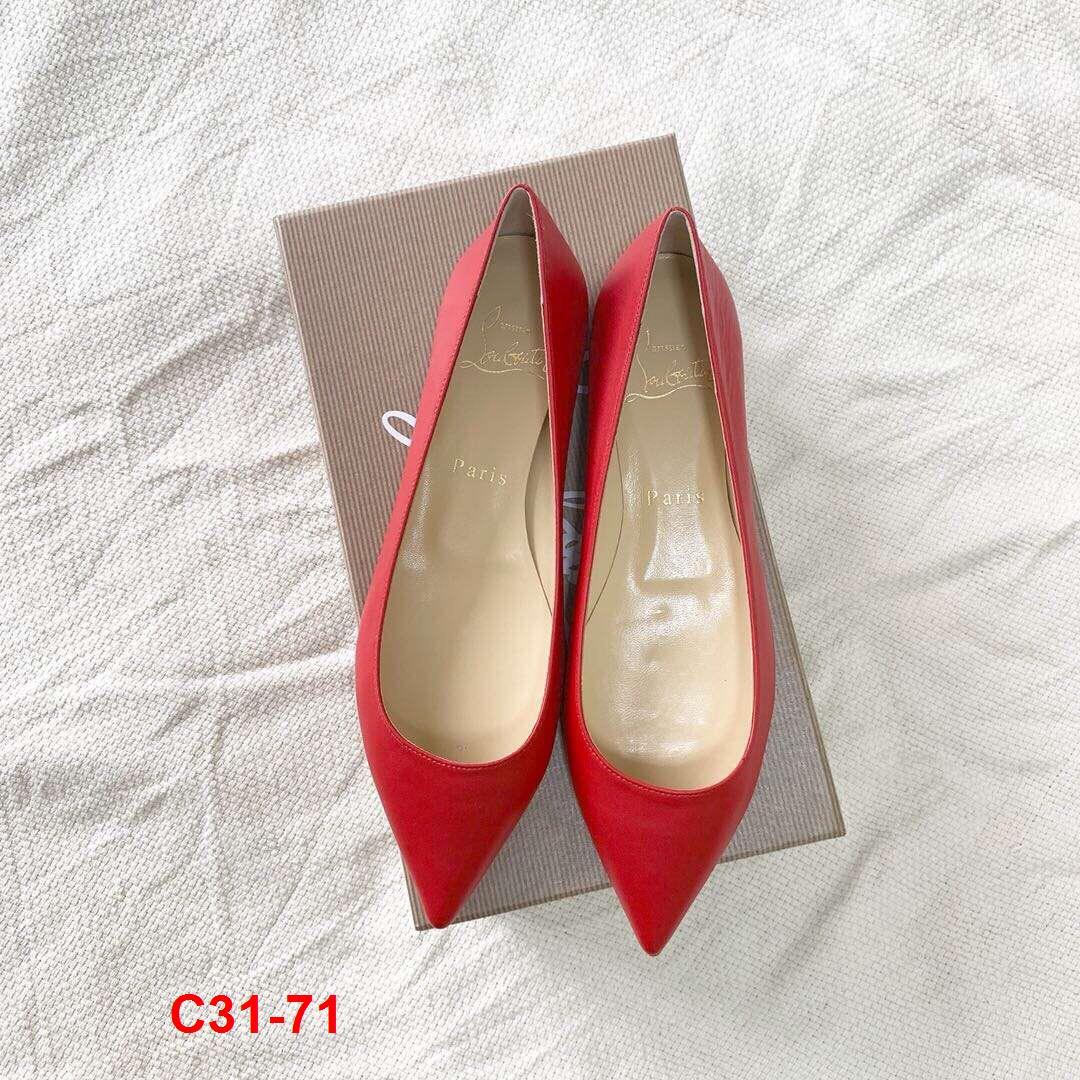 C31-71 Louboutin giày bệt siêu cấp
