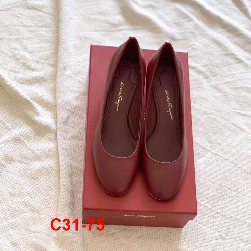 C31-75 Salvatore Ferragamo giày cao 5cm siêu cấp