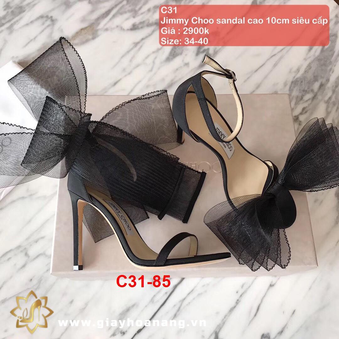 C31-85 Jimmy Choo sandal cao 10cm siêu cấp