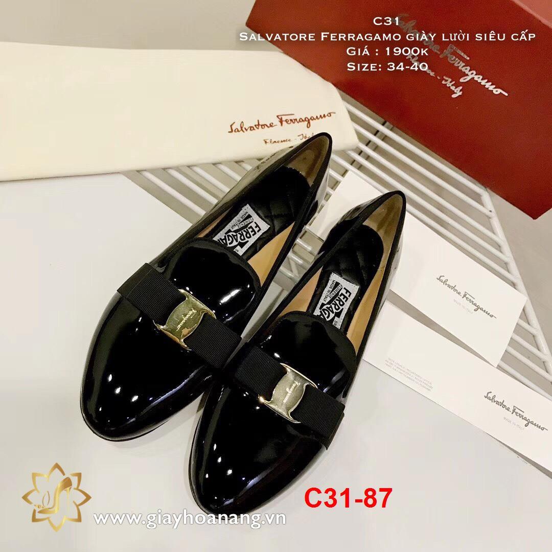 C31-87 Salvatore Ferragamo giày lười siêu cấp