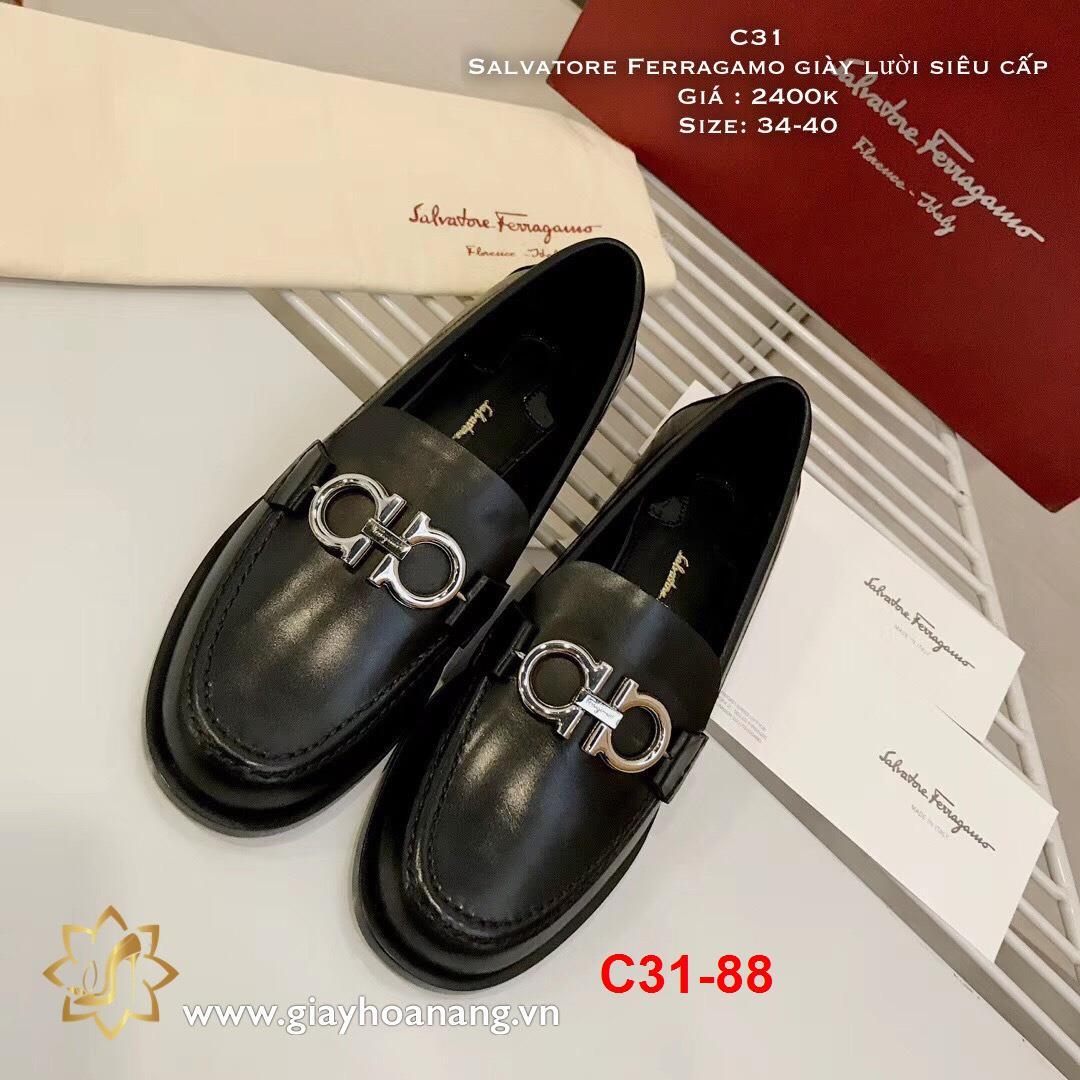 C31-88 Salvatore Ferragamo giày lười siêu cấp