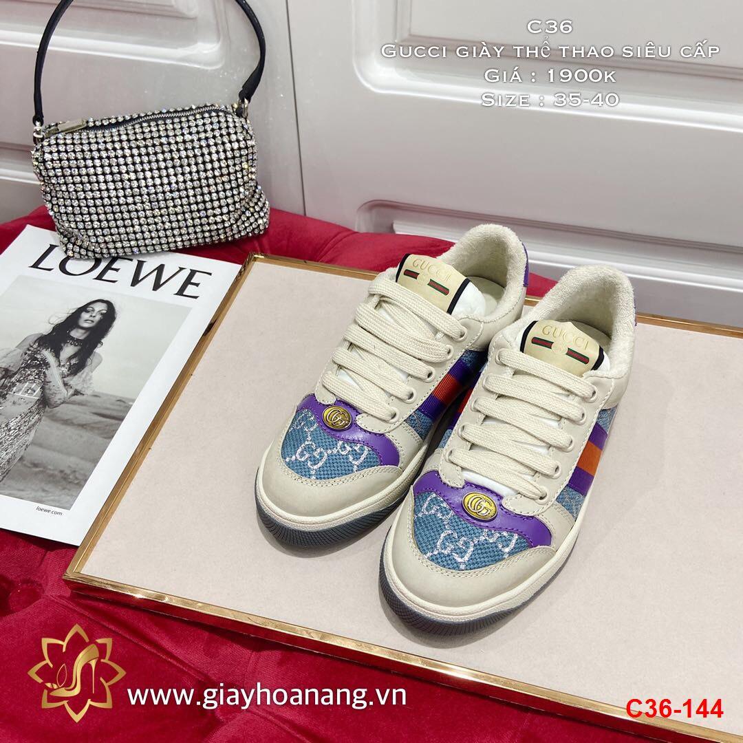 C36-144 Gucci giày thể thao siêu cấp