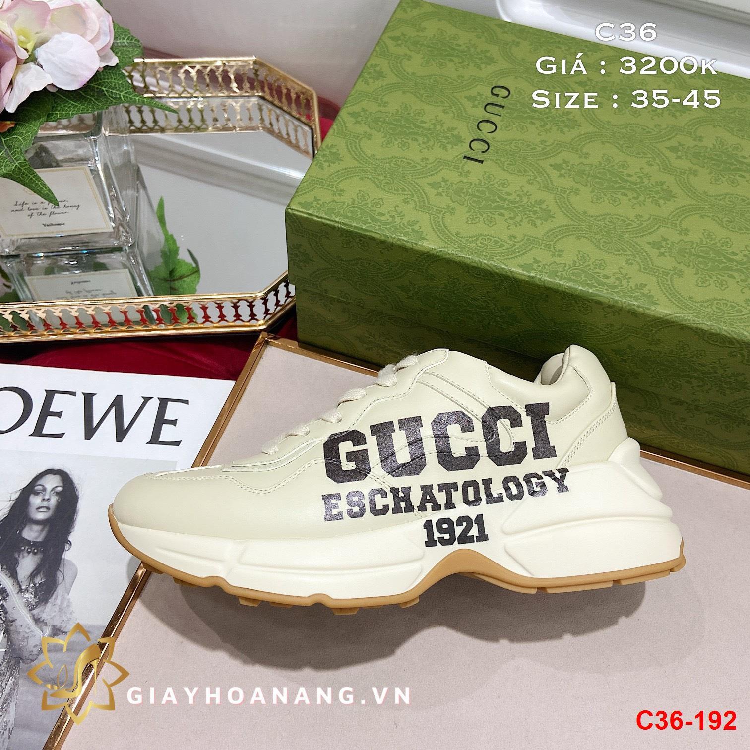 C36-192 Gucci giày thể thao siêu cấp