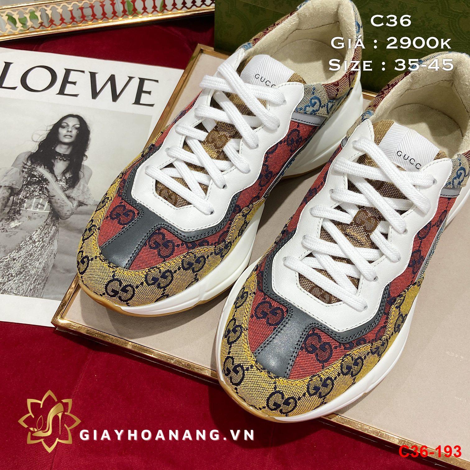 C36-193 Gucci giày thể thao siêu cấp