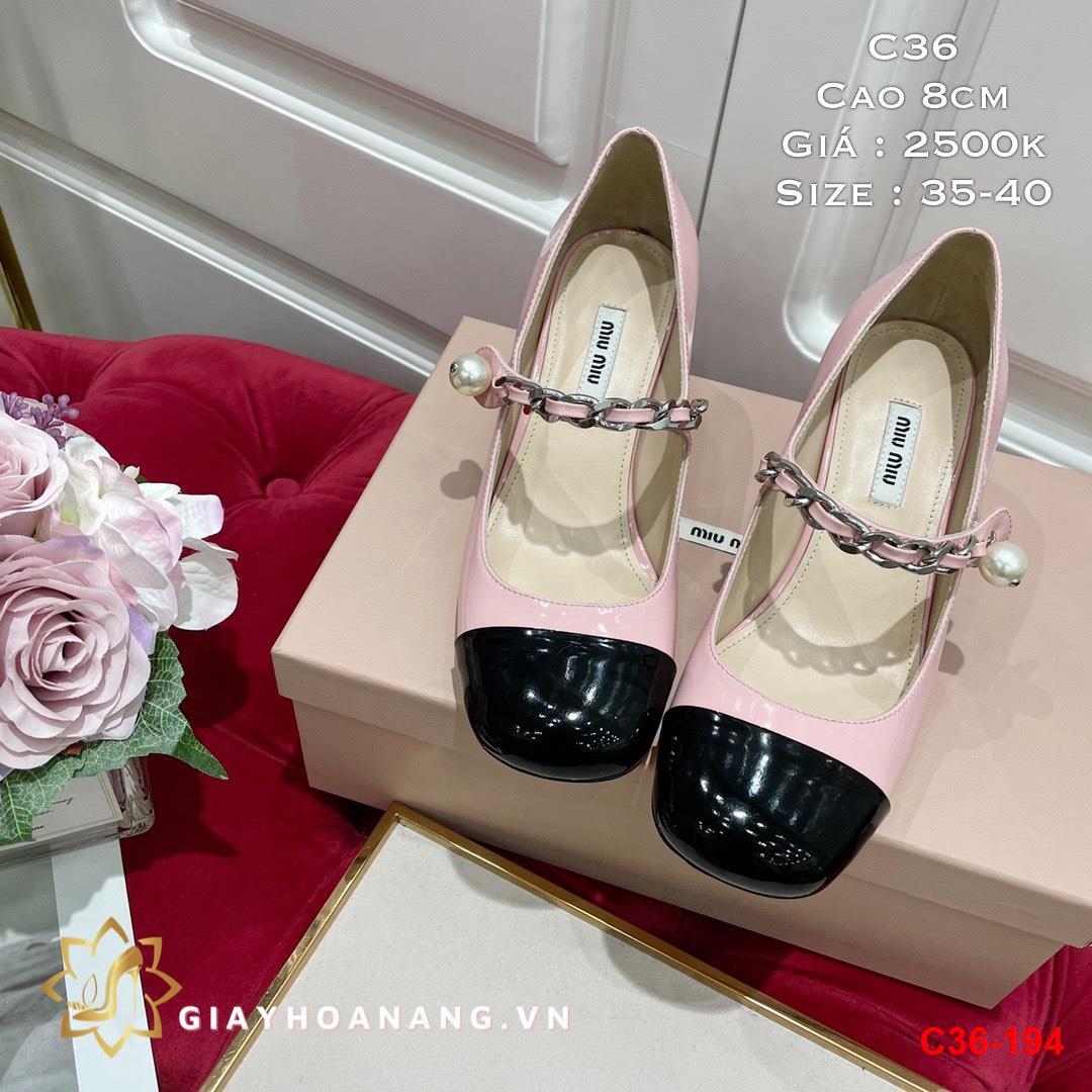 C36-194 Miu Miu giày cao 8cm siêu cấp