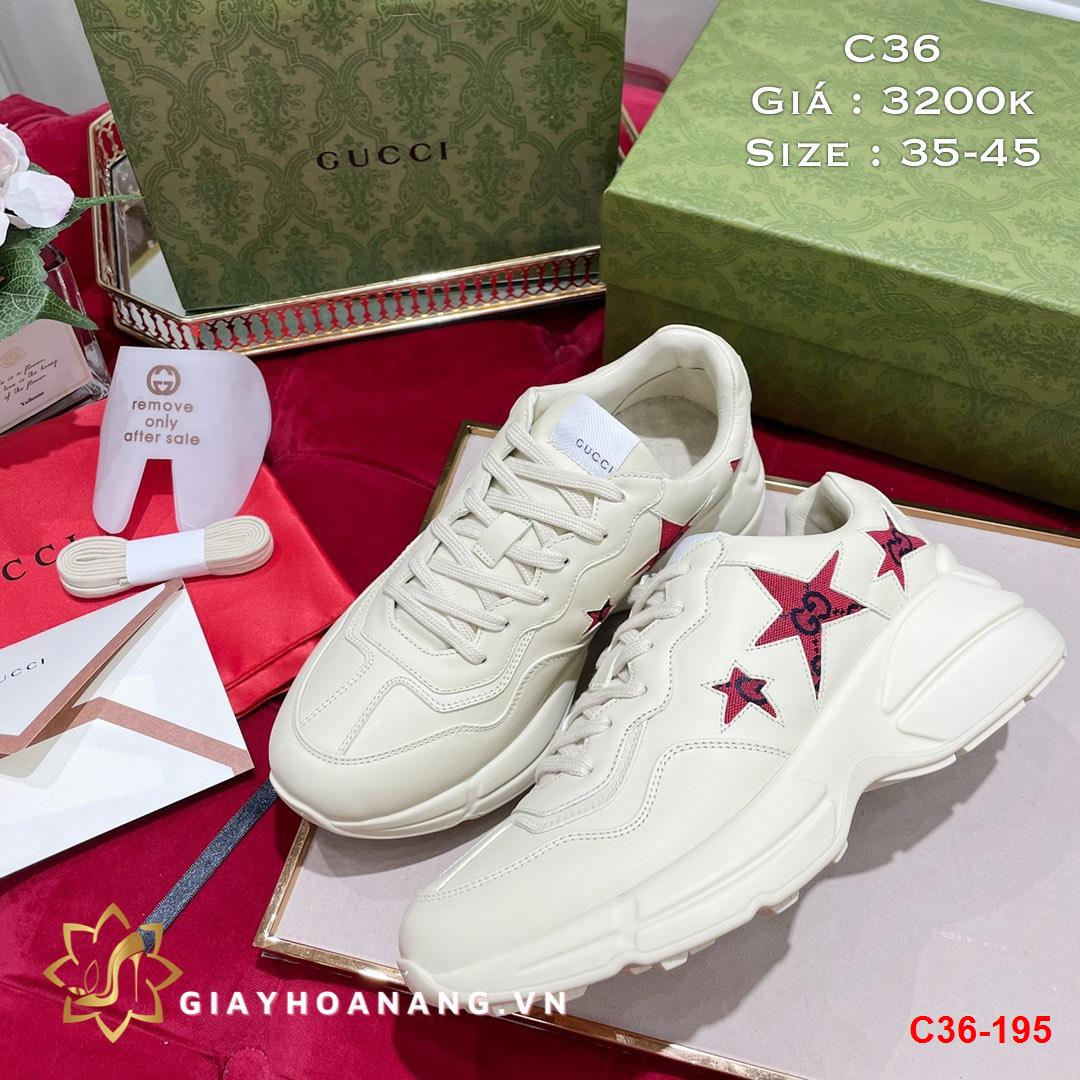 C36-195 Gucci giày thể thao siêu cấp