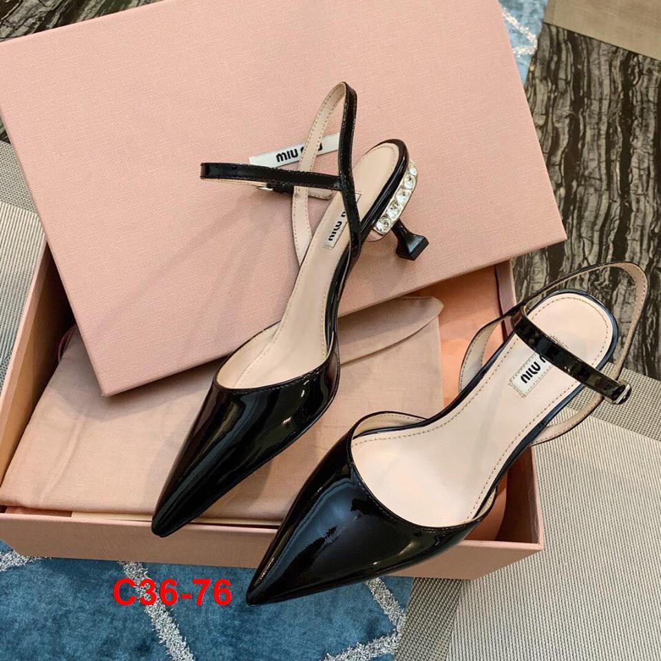 C36-76 Miu Miu sandal cao 5cm siêu cấp