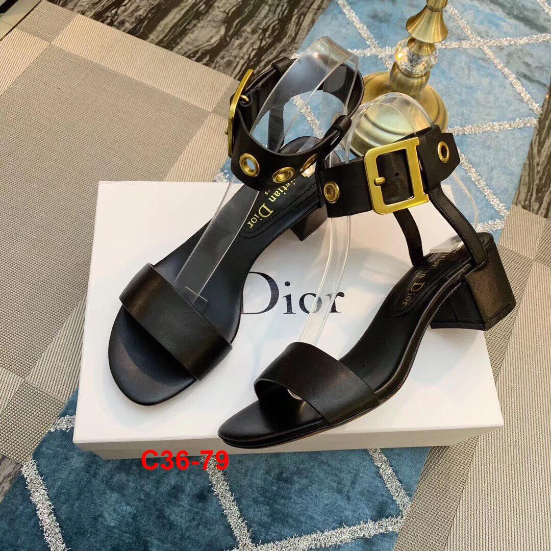 C36-79 Dior sandal cao 6cm siêu cấp