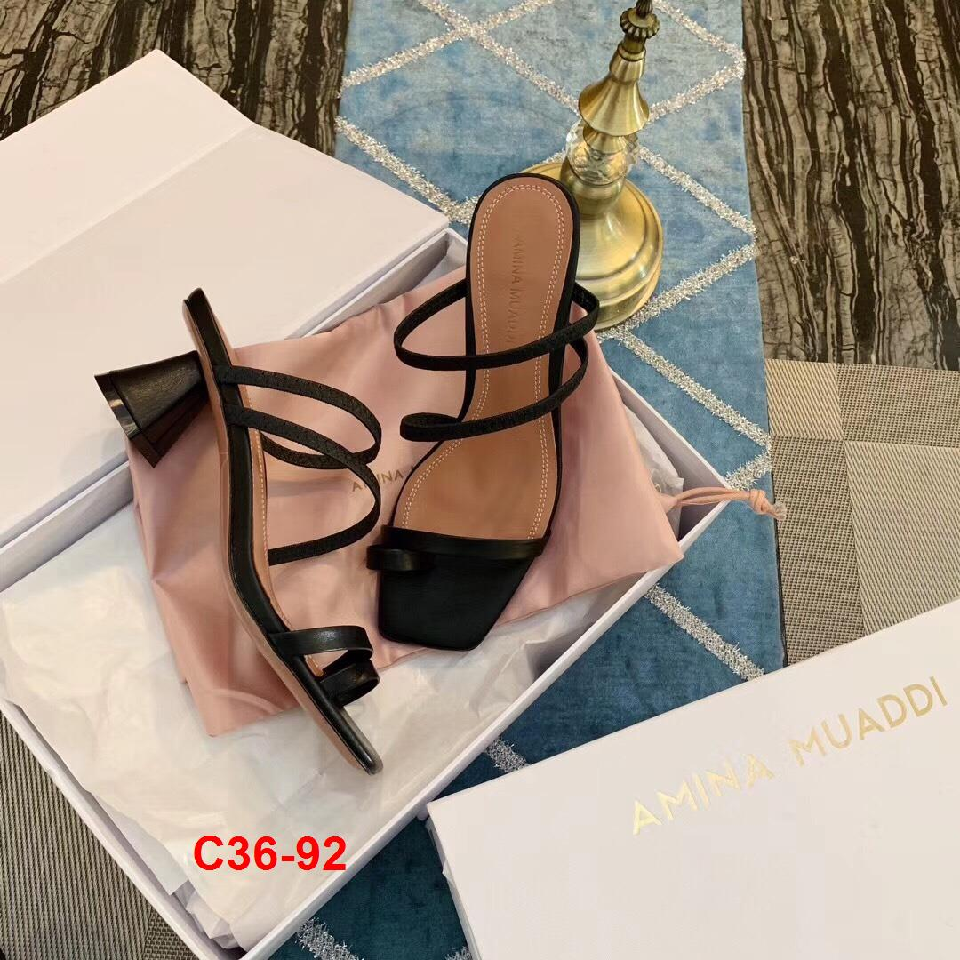 C36-92 Amina Muaddi sanda cao 5cm siêu cấp
