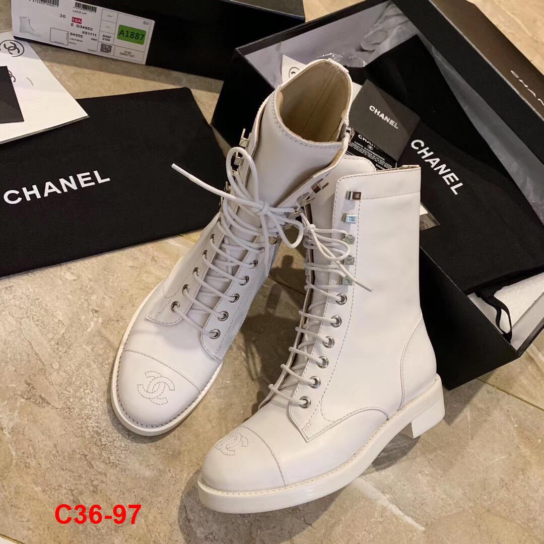 C36-97 Chanel bốt cao 4cm siêu cấp