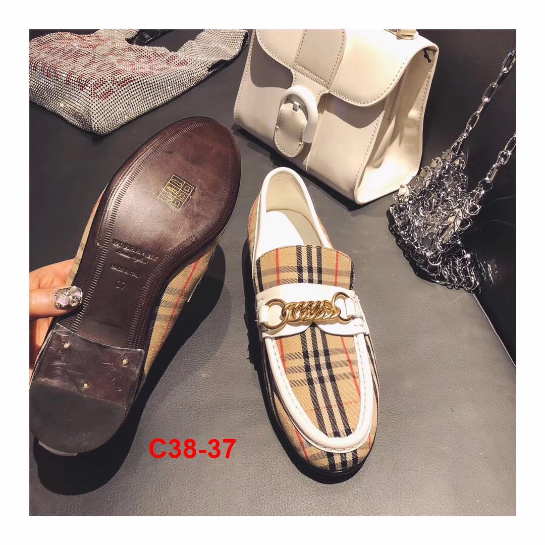 C38-37 Burberry giày lười siêu cấp