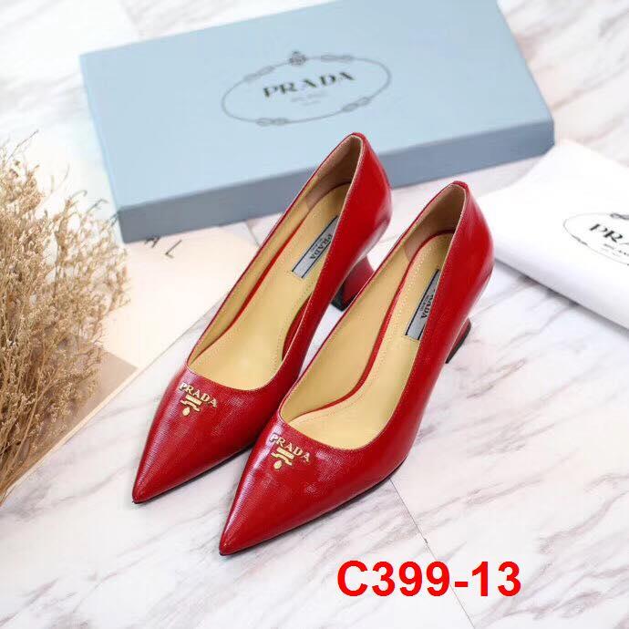 C399-13 Prada giày cao 7cm siêu cấp