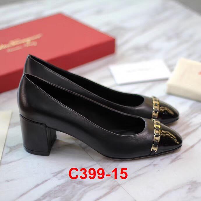C399-15 Salvatore Ferragamo giày cao 6cm siêu cấp