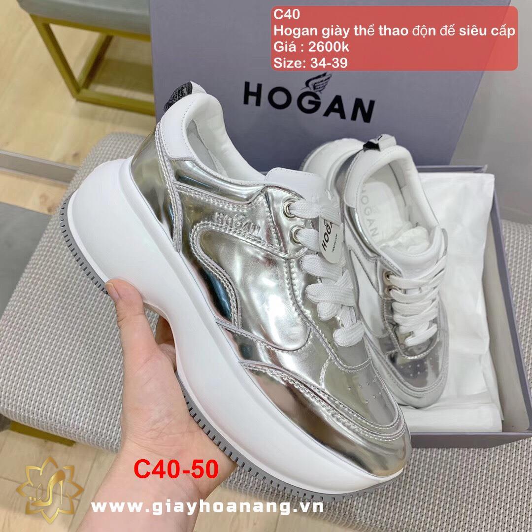 C40-50 Hogan giày thể thao độn đế siêu cấp