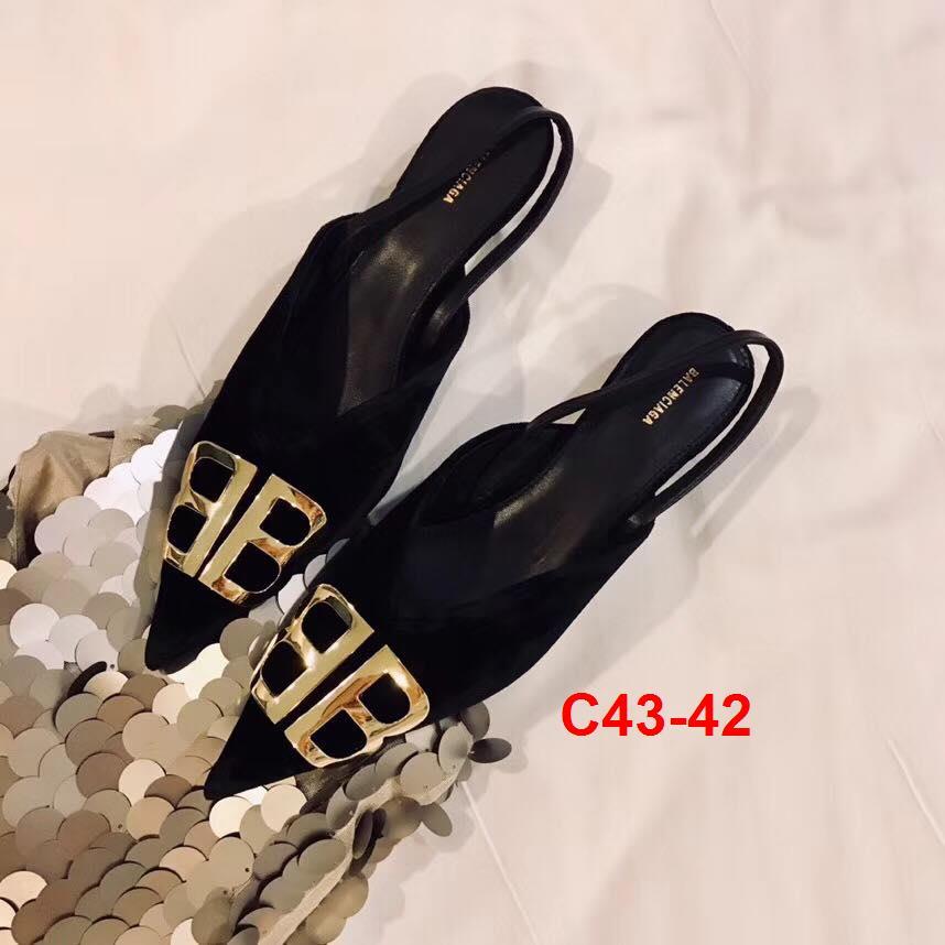 C43-42 Balenciaga sandal cao 3cm siêu cấp