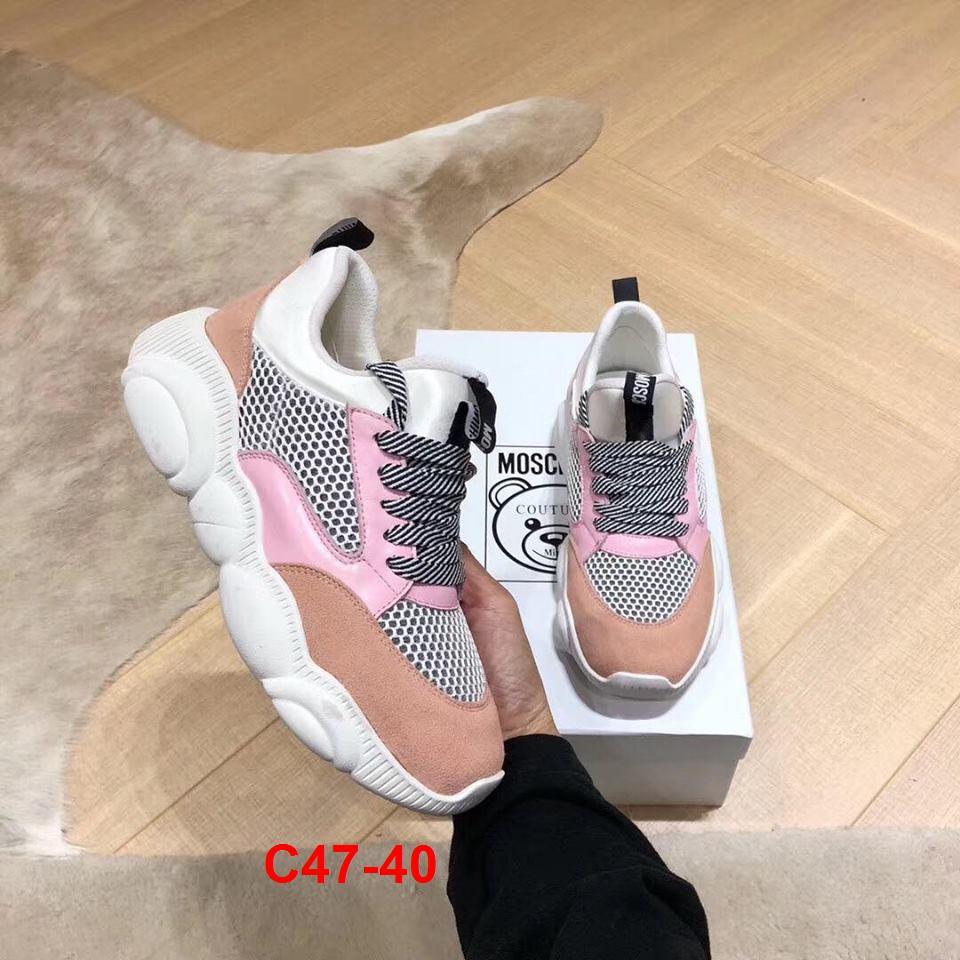 C47-40 Moschino giày thể thao siêu cấp