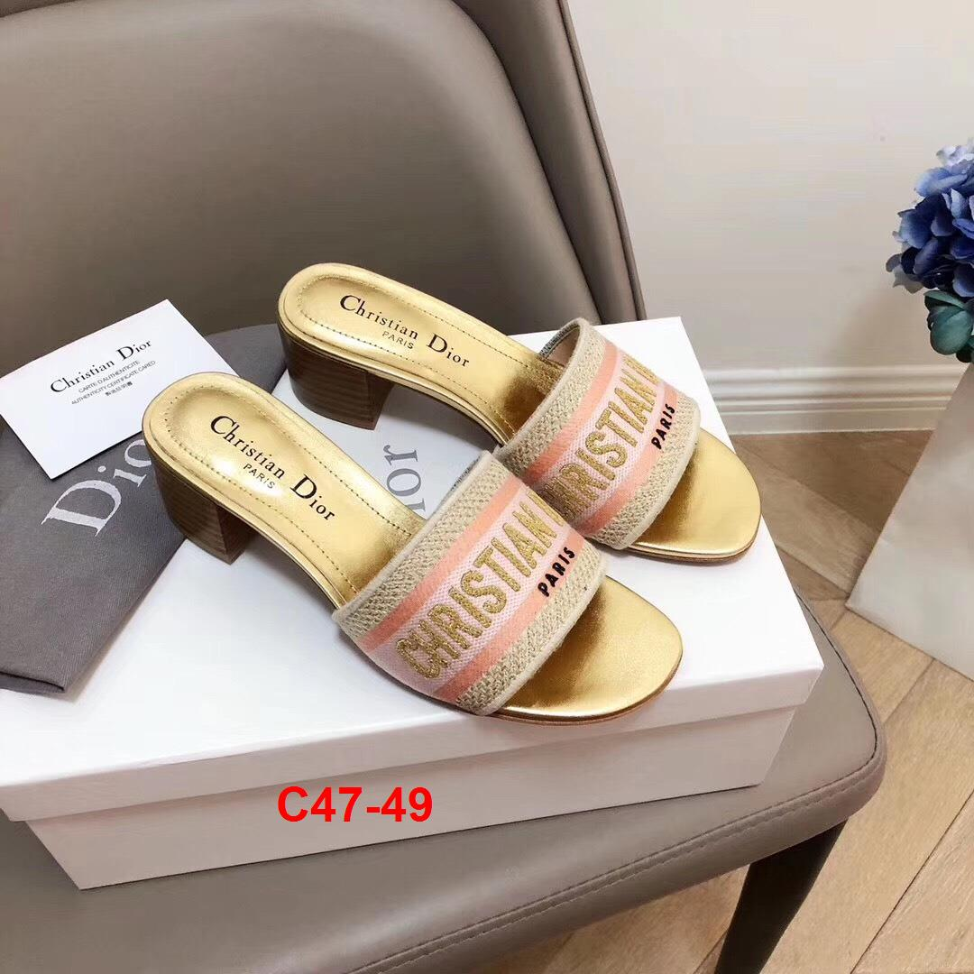 C47-49 Dior dép cao 5cm siêu cấp