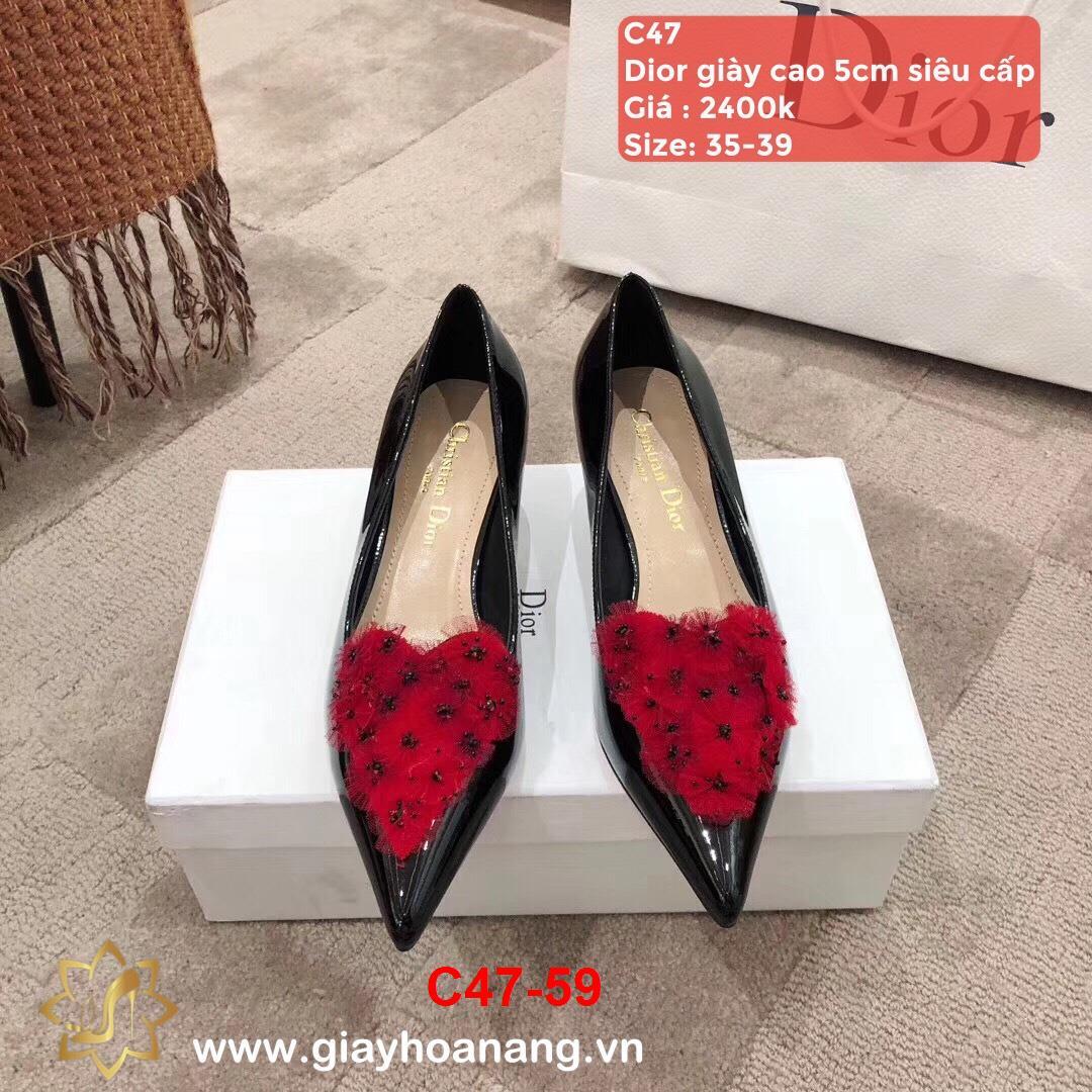 C47-59 Dior giày cao 5cm siêu cấp