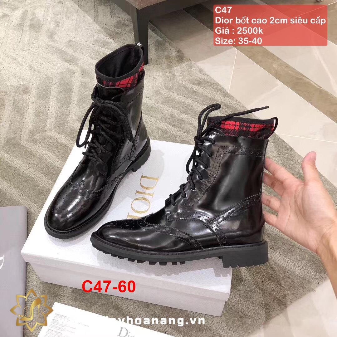 C47-60 Dior bốt cao 2cm siêu cấp