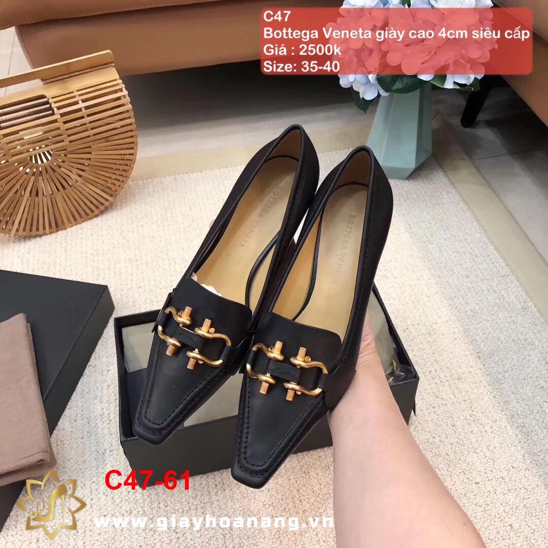 C47-61 Bottega Veneta giày cao 4cm siêu cấp