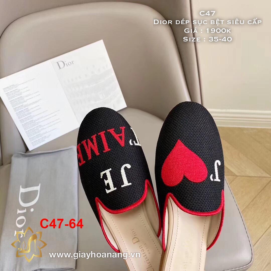 C47-64 Dior dép sục bệt siêu cấp