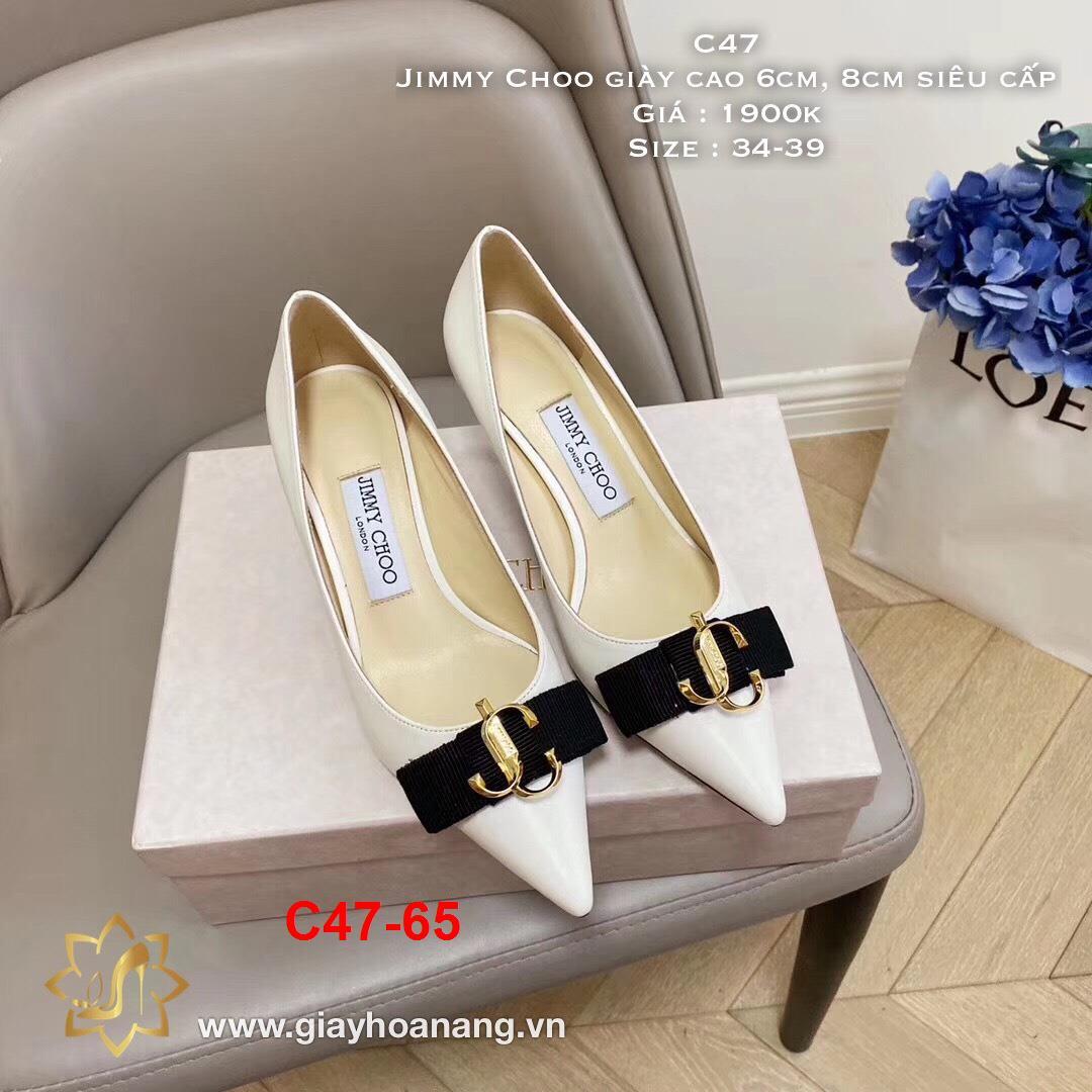 C47-65 Jimmy Choo giày cao 6cm, 8cm siêu cấp